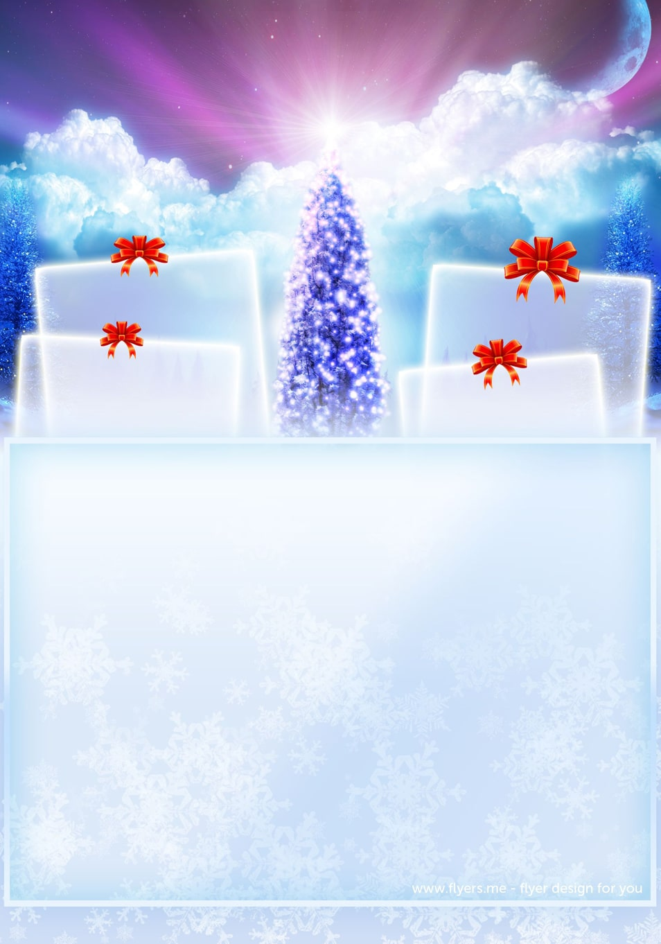 Christmas Invitation Card With PSD