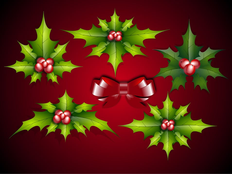 Christmas Leaves Vector