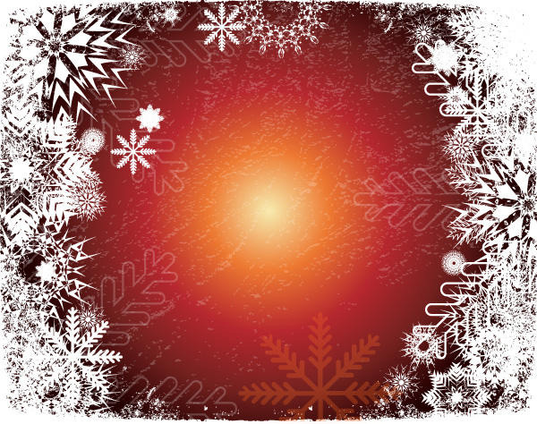Christmas Snowflake Grunge Vector Background