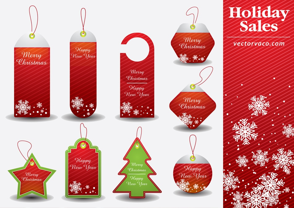 Christmas Tag Vector