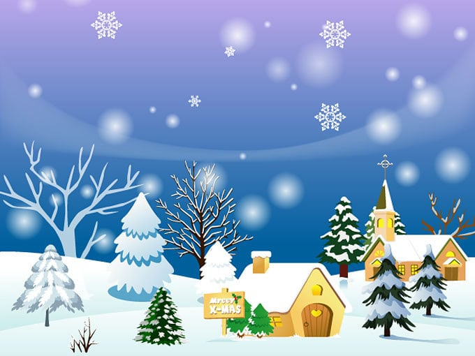 christmas-town-background