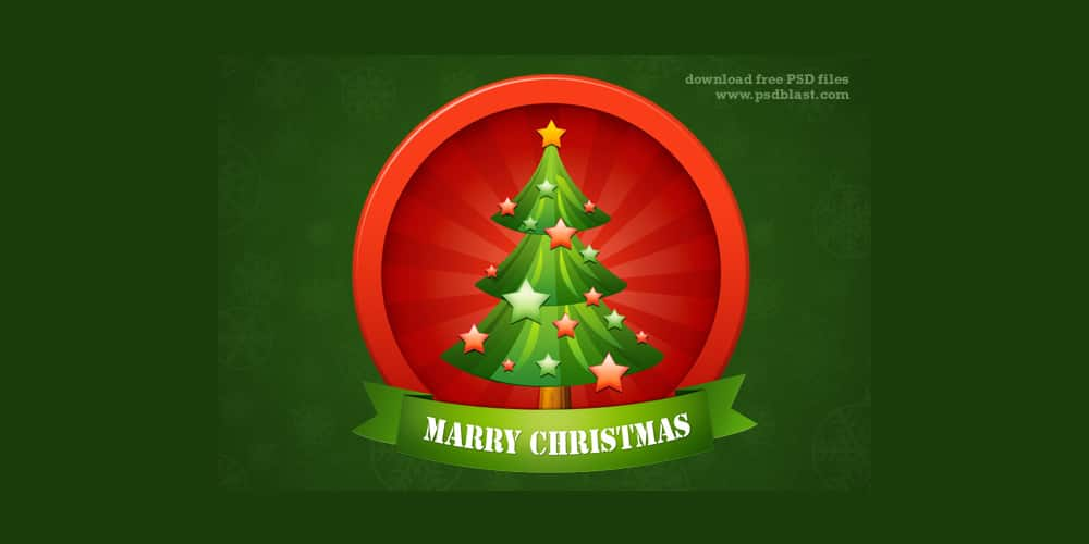 Christmas Tree Icon PSD