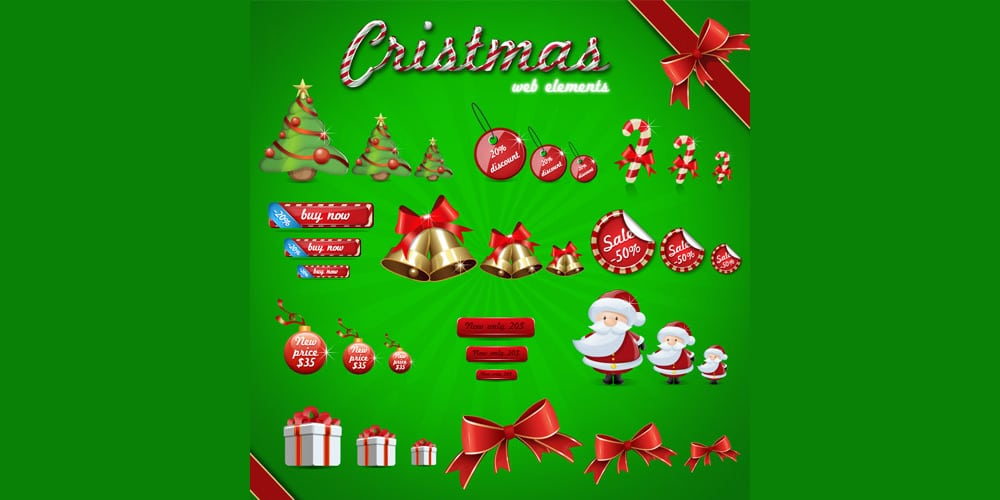 Christmas Web Elements PSD