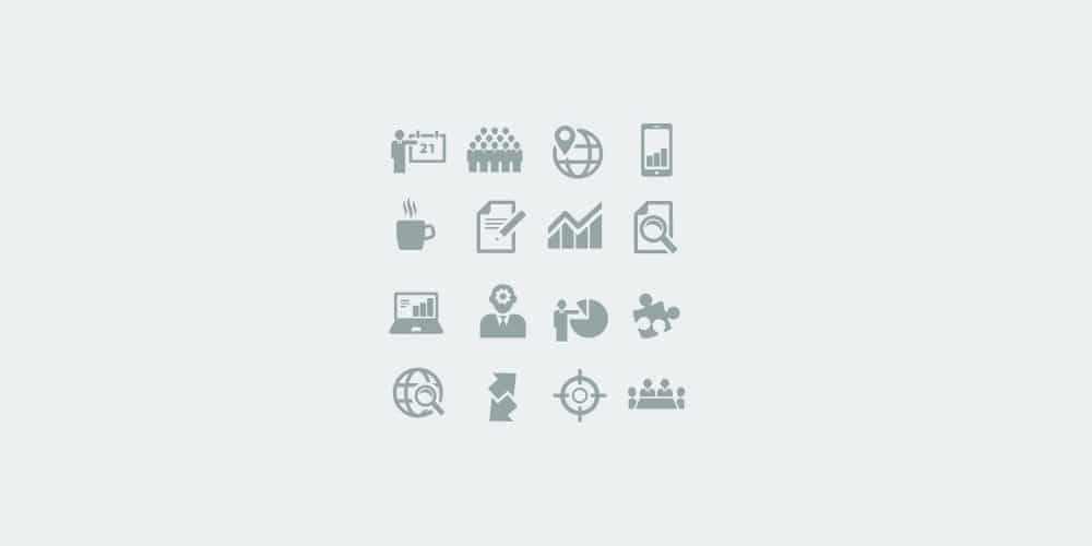 Clean Business Icons Set