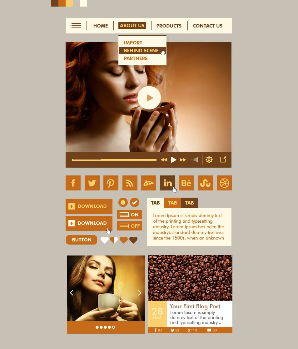 Coffee Web UI Kit