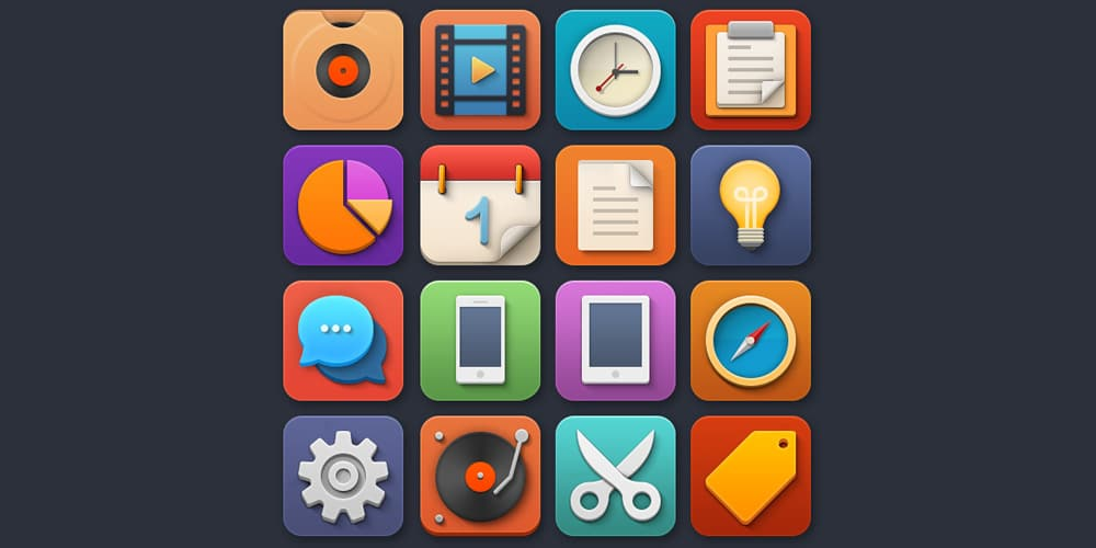 Colorful and Playful Softies Icons