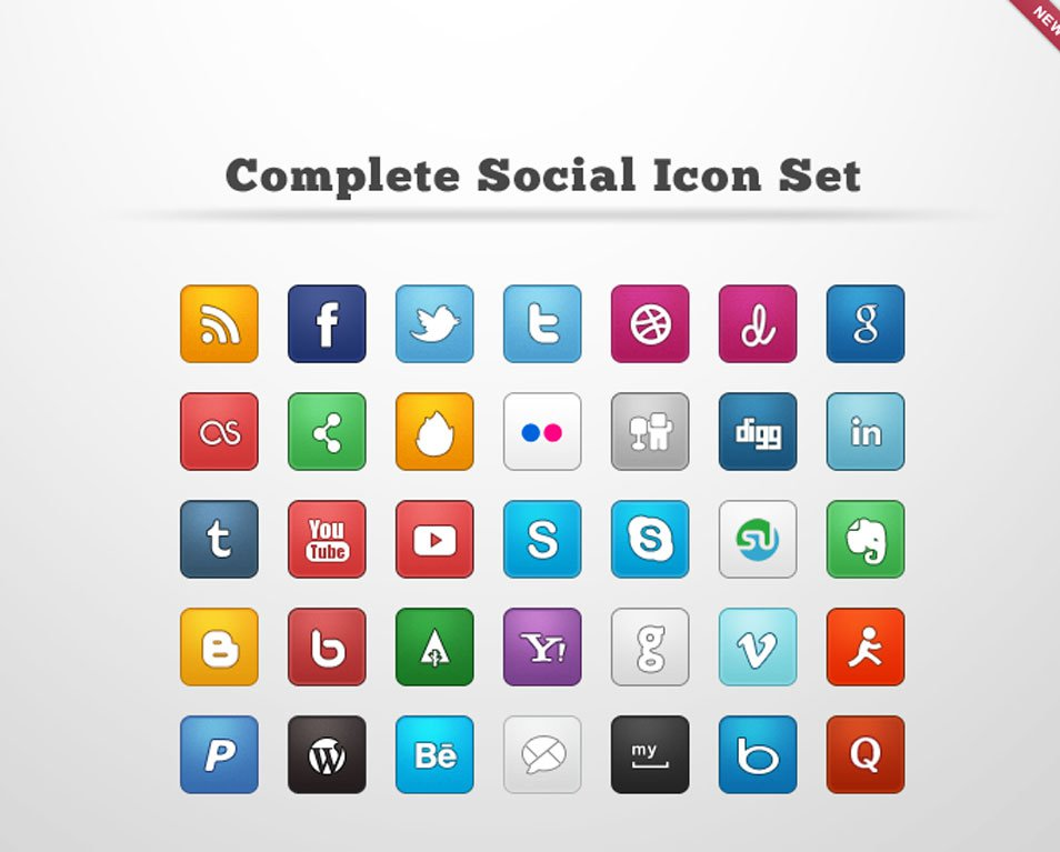 Complete Social Icon Set