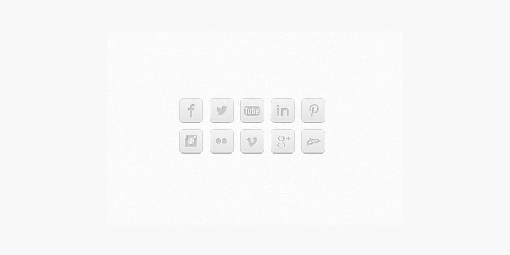 Cool Gray Social Media Icons