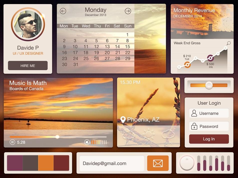 Desert UI Kit Free PSD