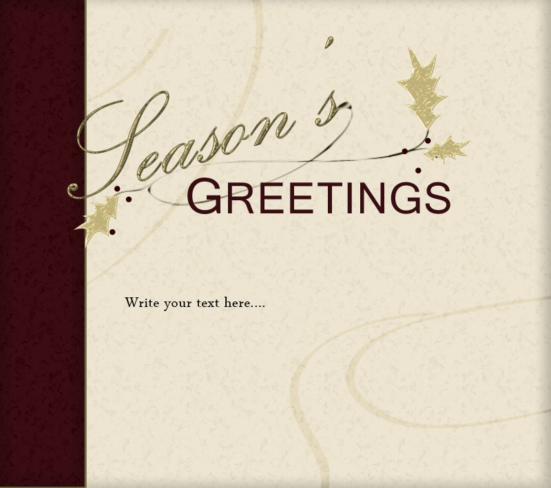 Digital Traditional Christmas Card