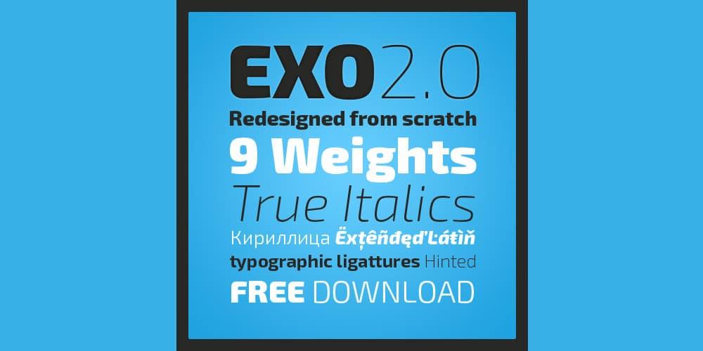 Exo 2 0 Geometric Sans Serif Font