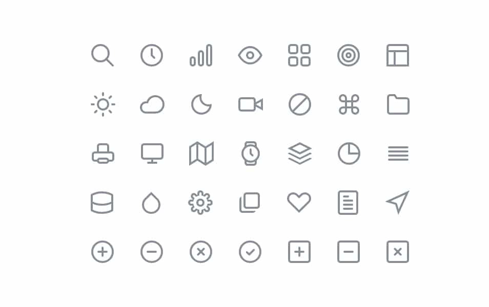 60  free line icon sets  u203a free icons  u00bb css author