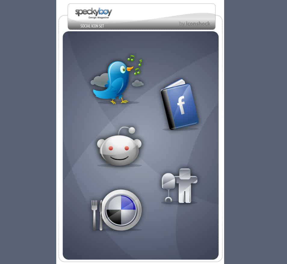 Five Free Social Bookmarking Icons