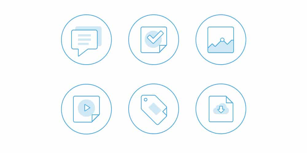 Flat Out Line Icons PSD