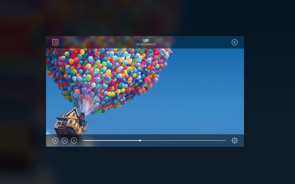 Flat Video Player PSD