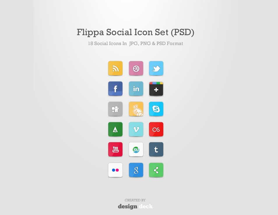 Flippa Social Icon Set (PSD)