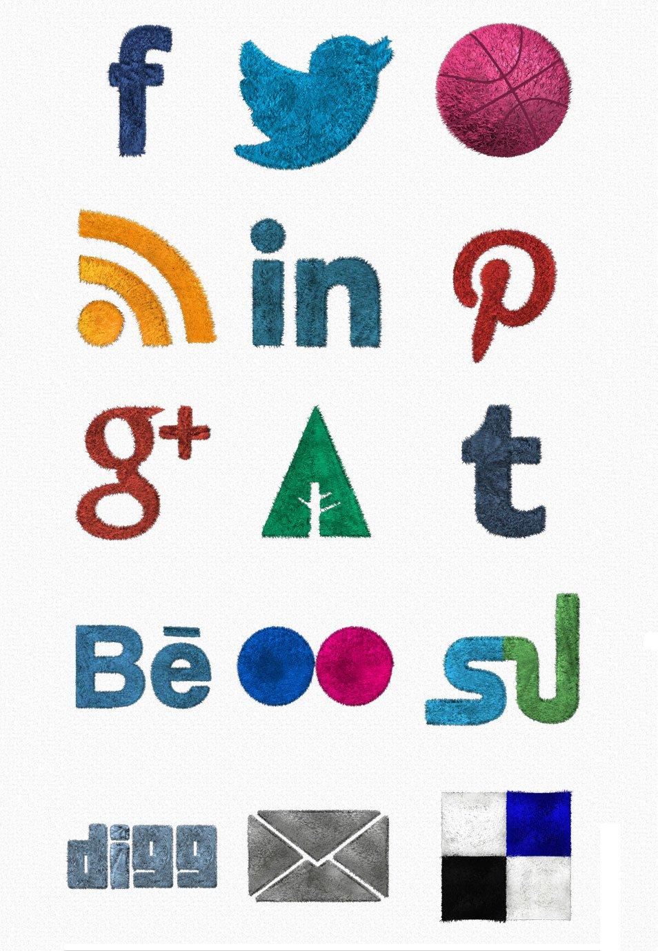 Fluffy Social Media Icons