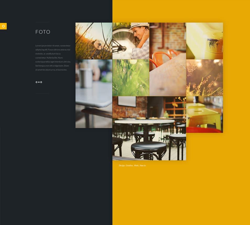 Foto - Stylish Flat PSD website Template