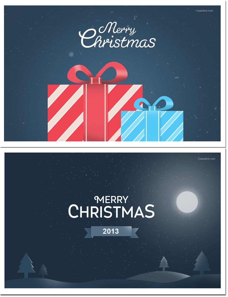 Free Christmas Greeting Cards PSD