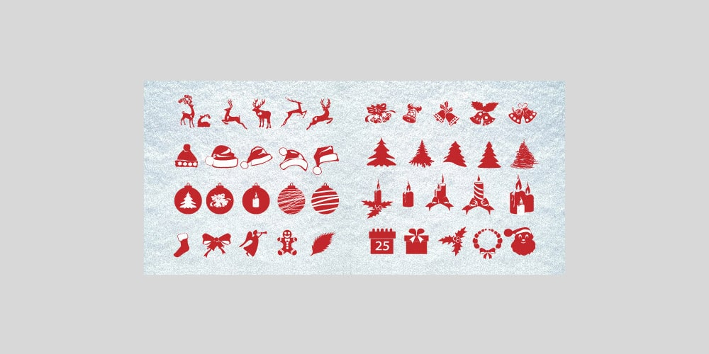 Free Christmas Silhouettes Pack