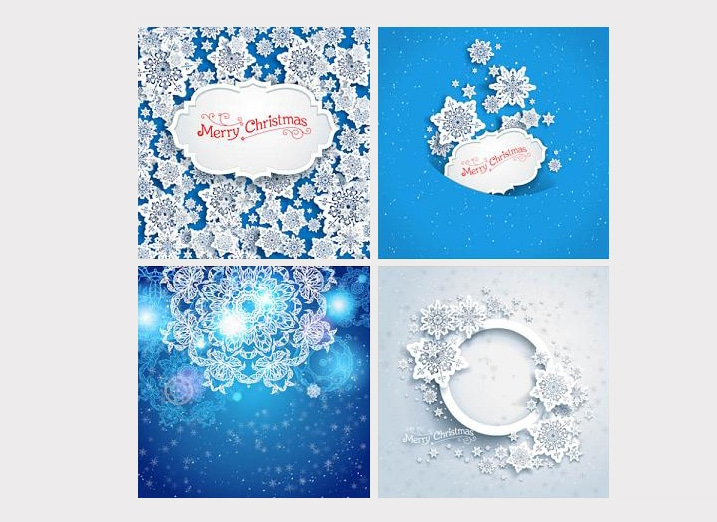 Free Christmas Snowflakes Cards