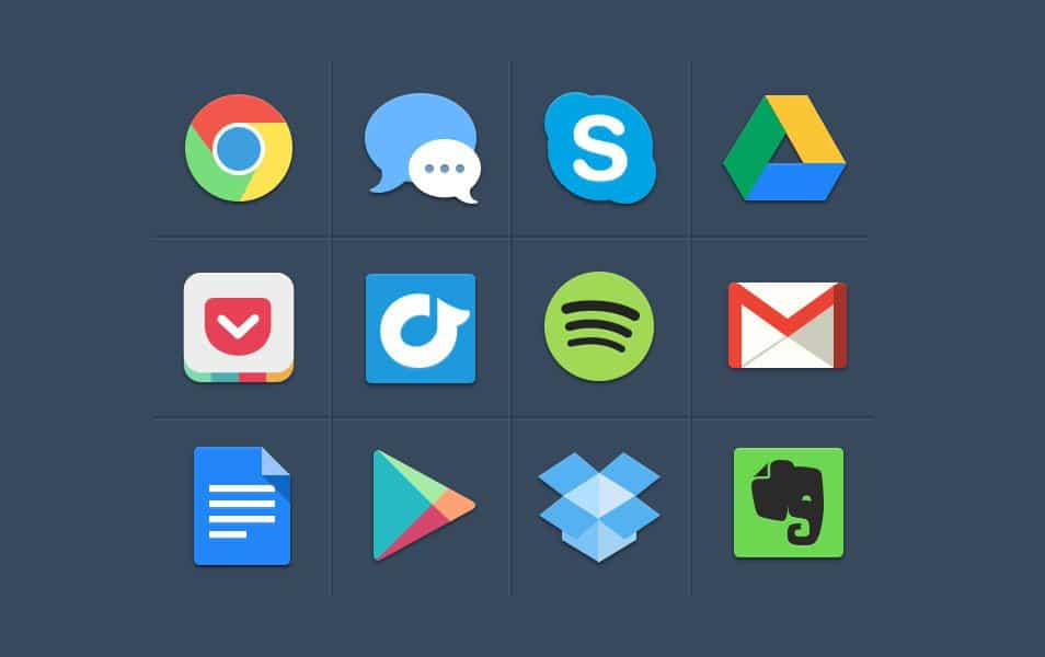 Free Colorful Flat Social Icons