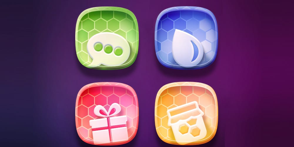 Free Colorful Icon Set PSD