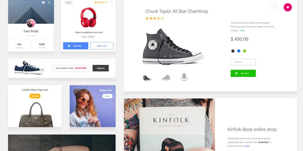 Free E commerce Sketch UI Kit