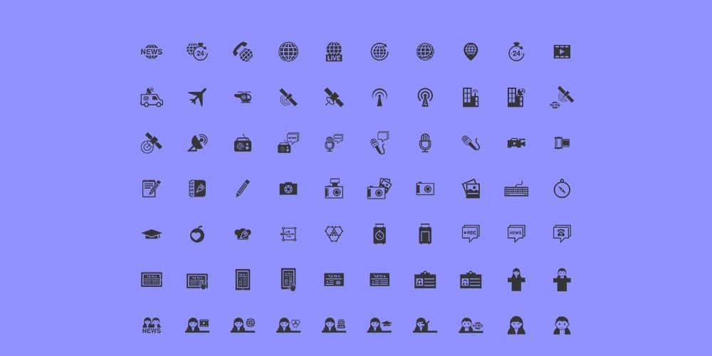 Free Journalism Icons