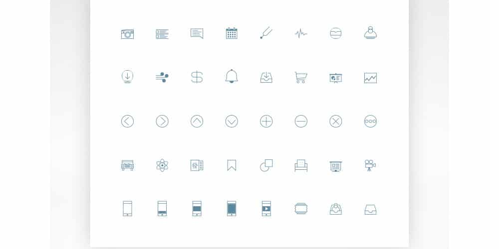 Free Line Icons PSD