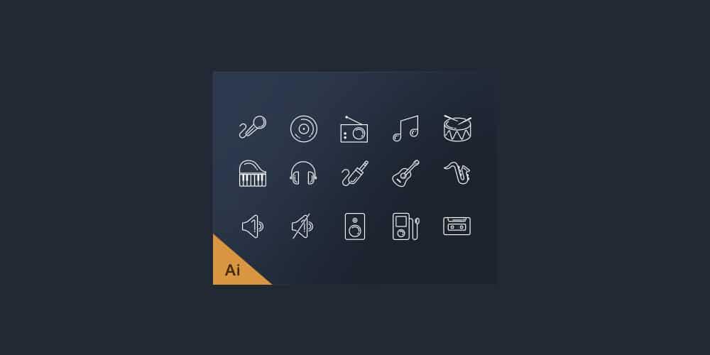 Free Music Line Icons