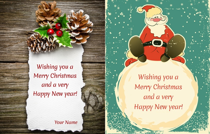 Free PSD Christmas Cards