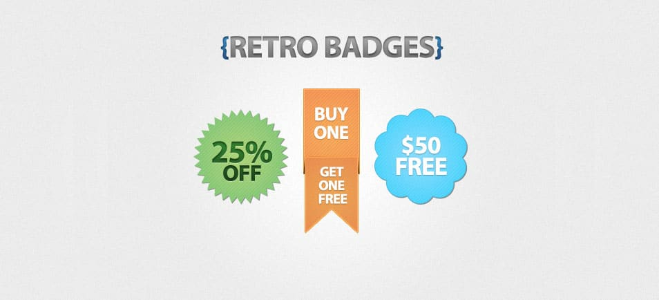 Free Retro Badges