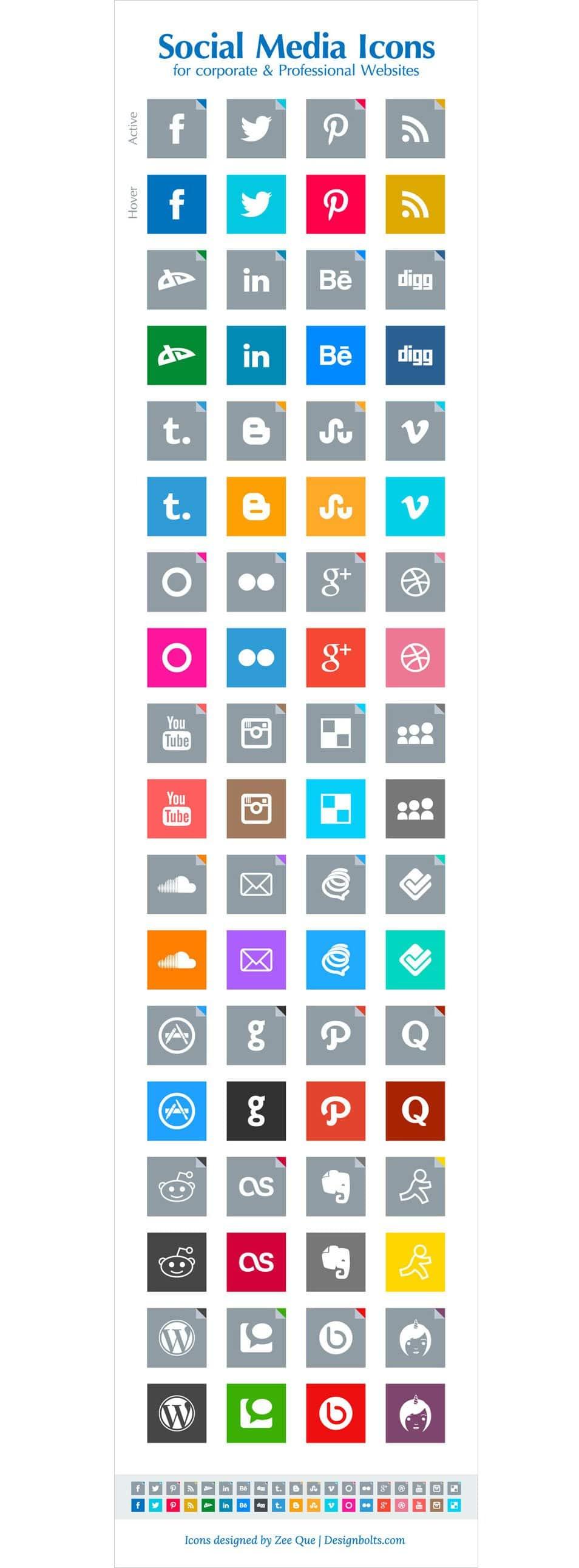 Free Simple Social Media Icons