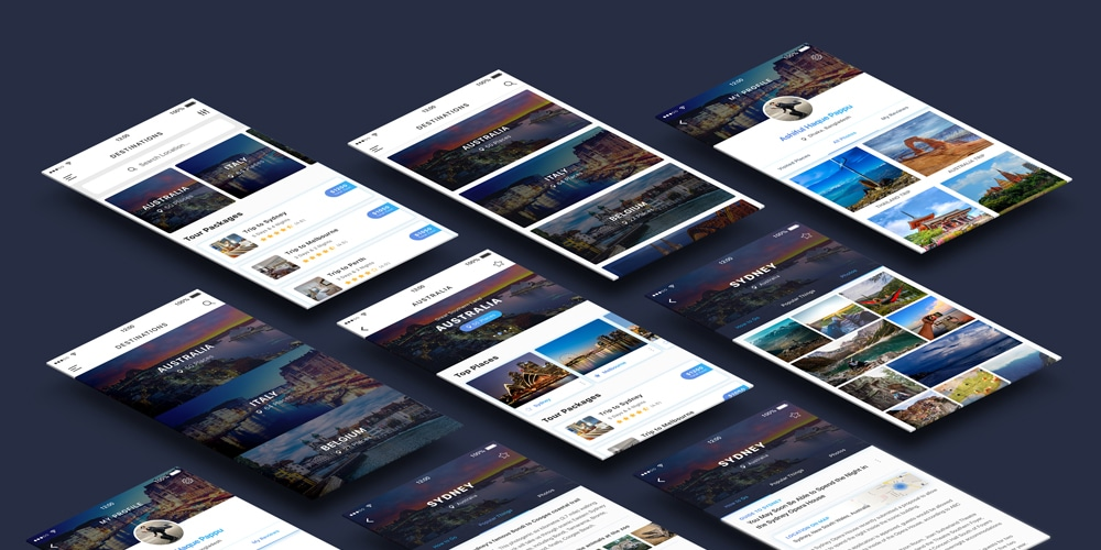 Free Travel UI Kit PSD