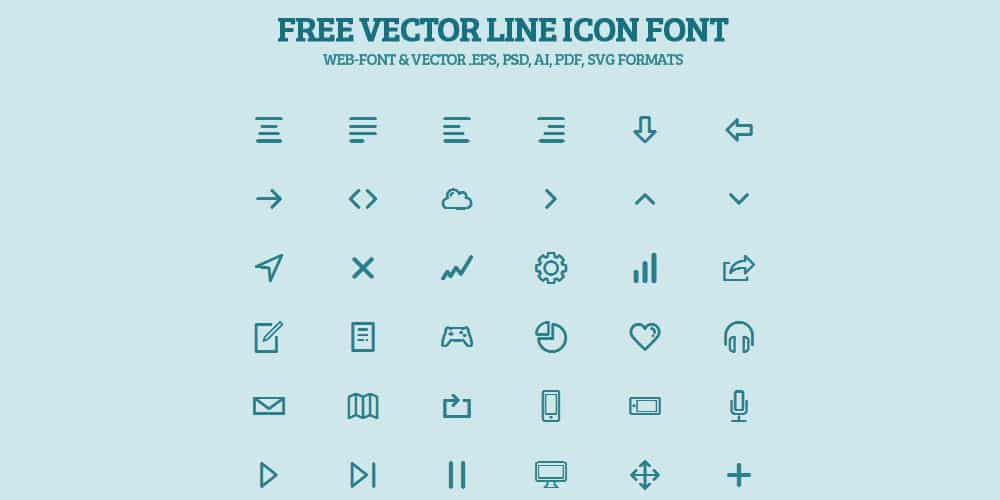 Free Vector Line Icon Font