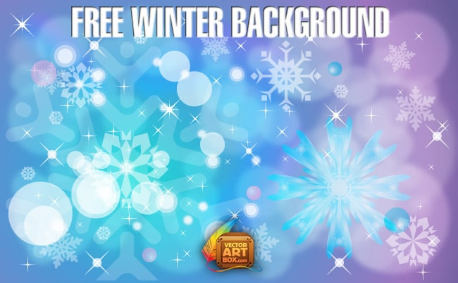 Free Vector Winter Background