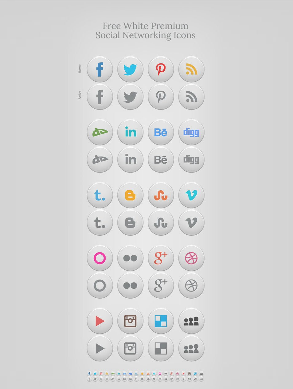 Iconos en hd para todo y gratis hipermegapost links taringa collection of free social networking icons are that they can very well become the part and parcel of those blogs and websites that have white based buycottarizona