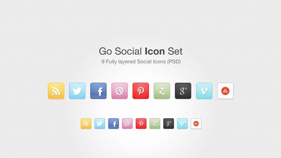 Go Social Icon Set