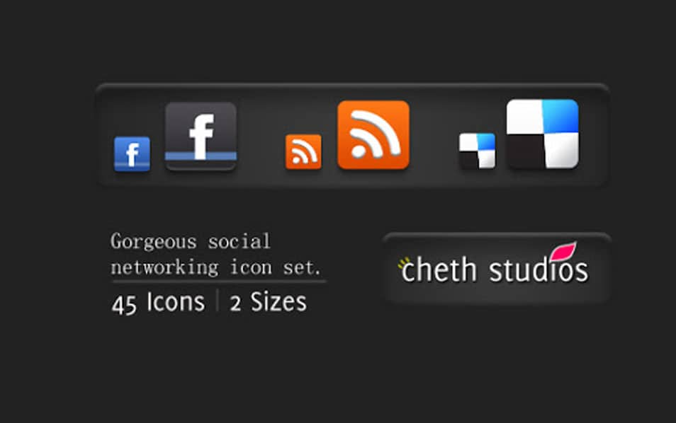 Gorgeous Mini Social Networking Icon set