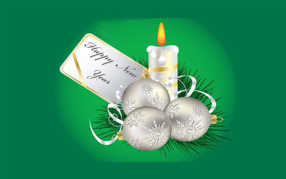 Happy New Year With Christmas 2014 wallpapers
