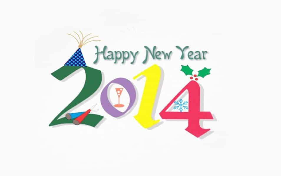 New year 2014 images happy new year 2014 celebrating design vector happy new year wallpaper 2014 hd voltagebd Image collections