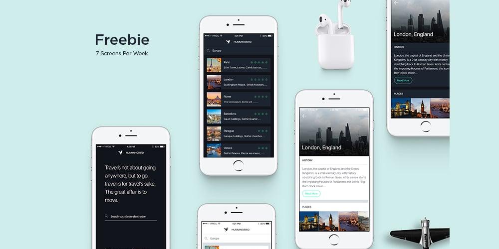 Hummingbird Travel App UI Kit