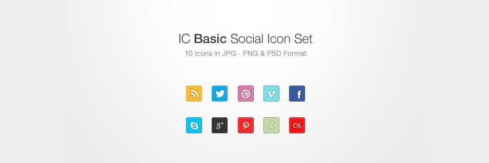 IC Basic Social Icon Set