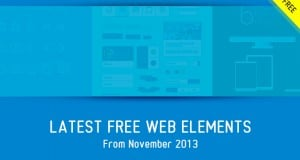 Latest Free Web Elements from November 2013