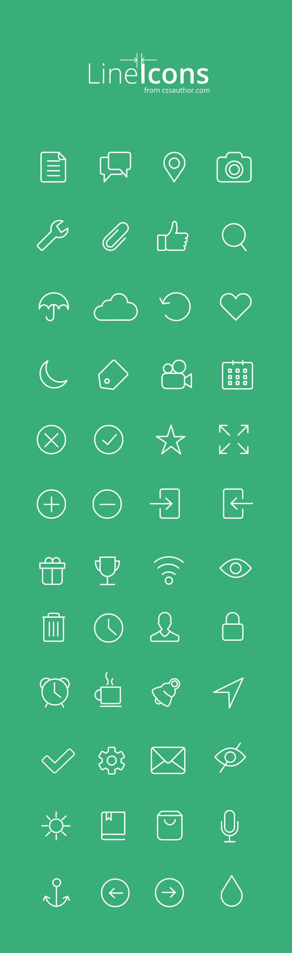 60+ Free Line Icon Sets › Free Icons » CSS Author