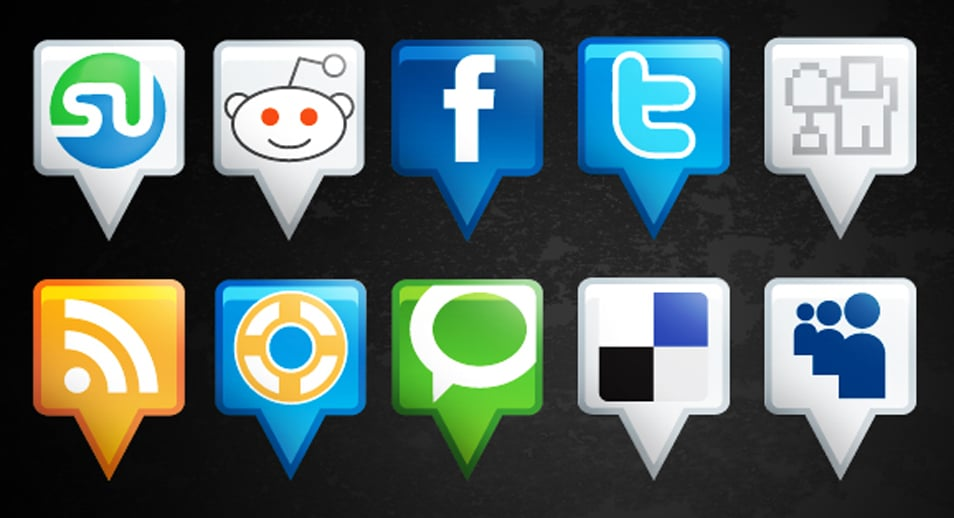 Location Social Media Icons