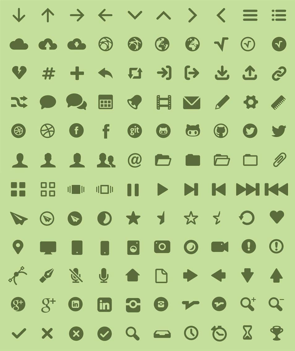 MFG Labs Icon Set (Web Font)