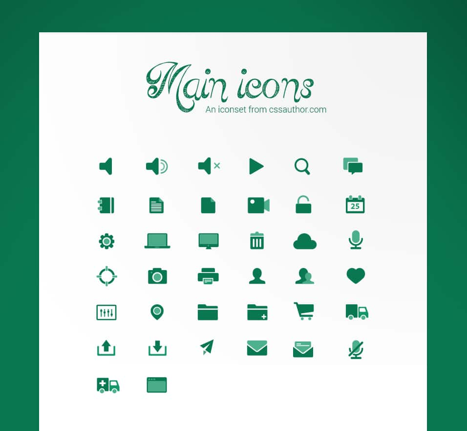 Main Icons - cssauthor.com