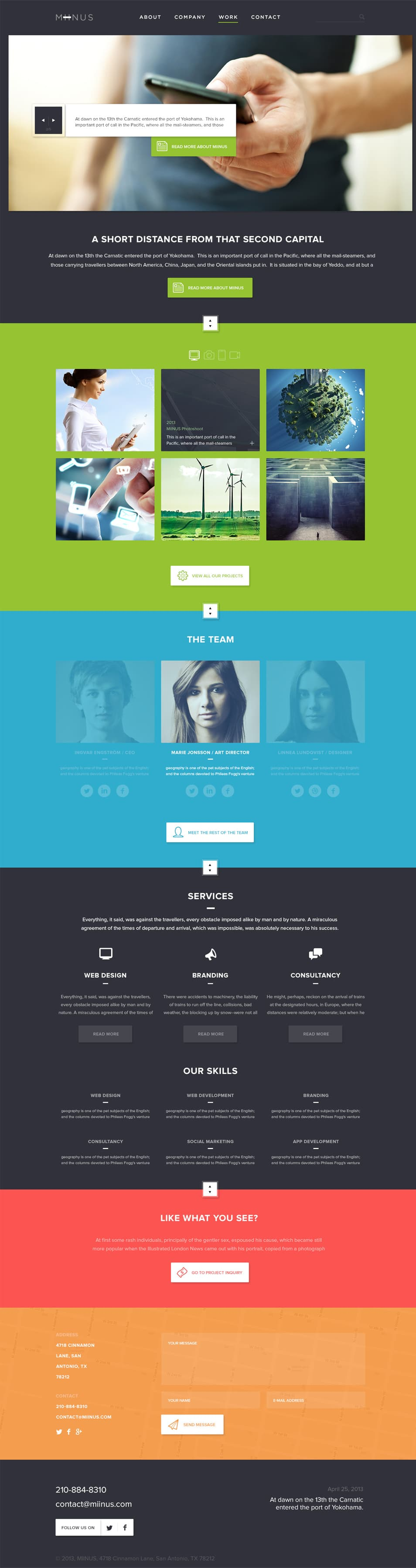Miinus Free Corporate PSD page